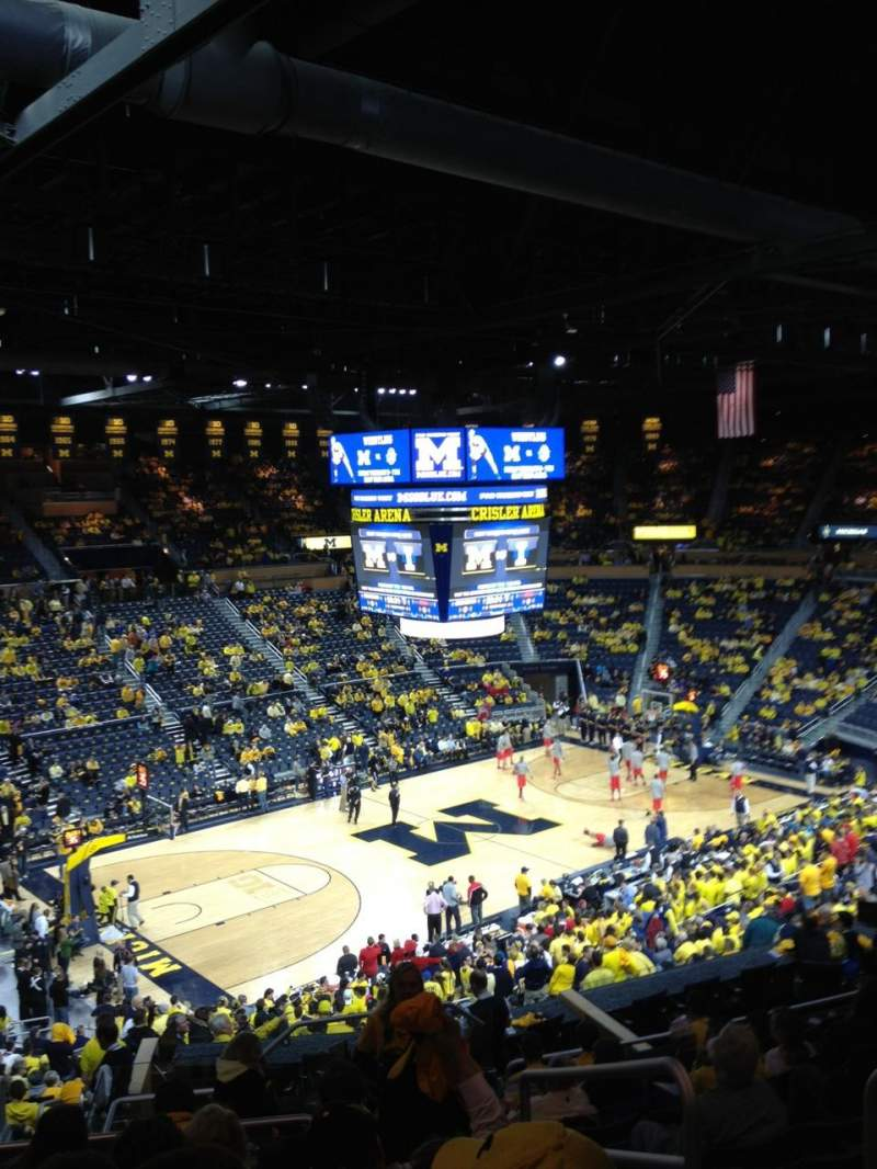 Seating view for Crisler Center