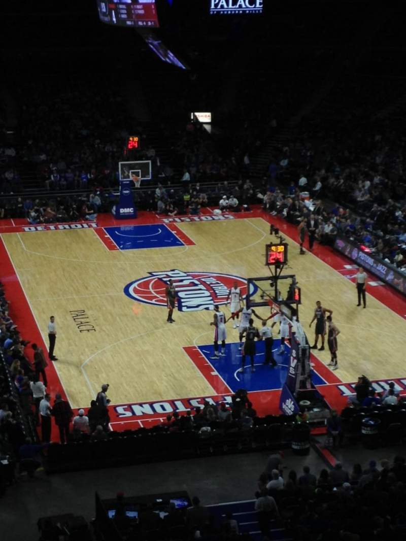 Seating view for The Palace of Auburn Hills Section 224 Row 5 Seat 10