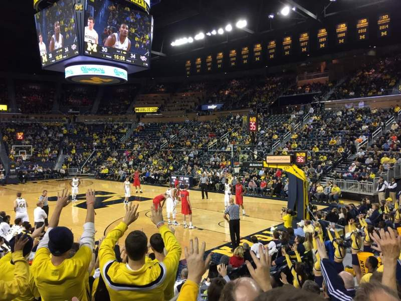 Crisler Center, section: 118, row: 9, seat: 8