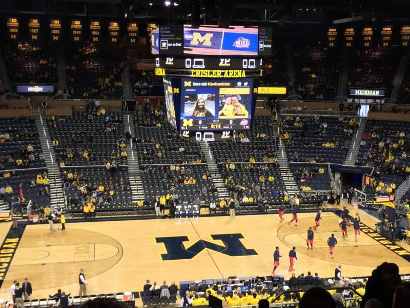 Seating view for Crisler Center Section 224 Row 33 Seat 8