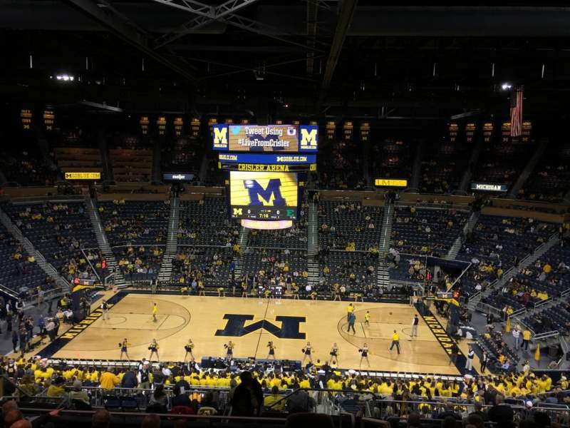 Seating view for Crisler Center Section 223 Row 34 Seat 1