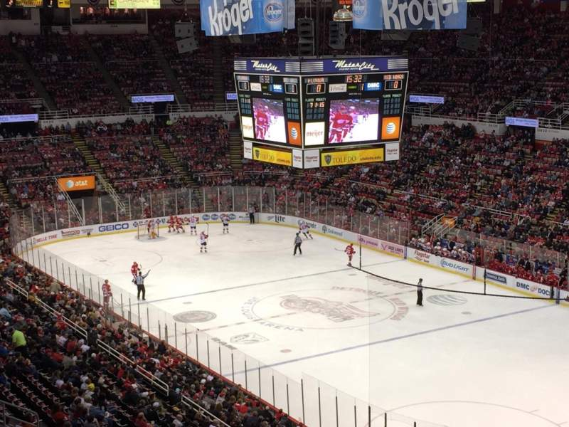 Seating view for Joe Louis Arena Section 203B Row 20 Seat 27