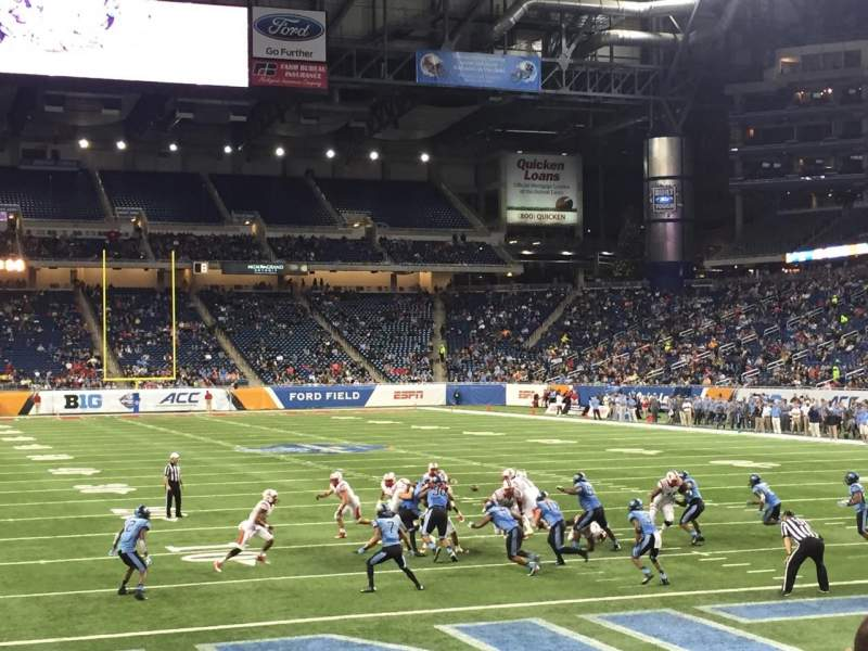 Seating view for Ford Field Section 136 Row 9 Seat 10