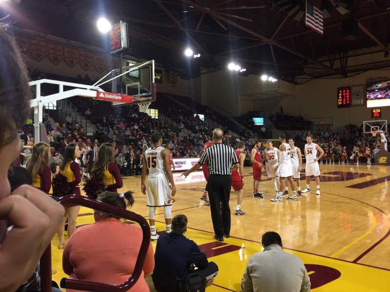 Seating view for McGuirk Arena Section 108 Row 2 Seat 2