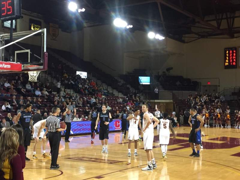Seating view for McGuirk Arena Section 108 Row 3 Seat 1
