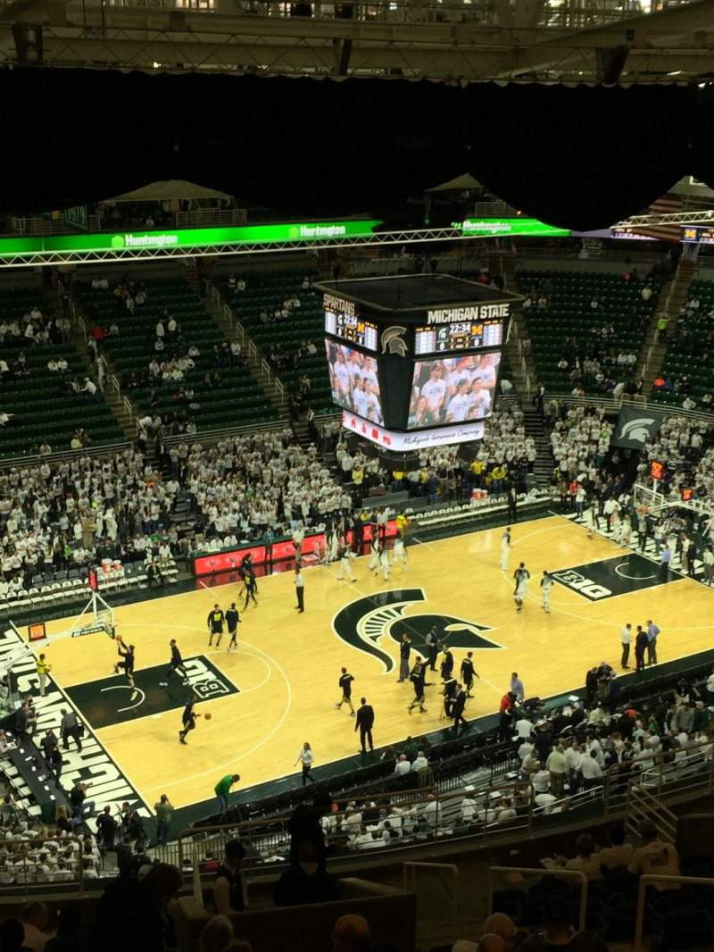 Seating view for Breslin Center Section 231 Row 17 Seat 107