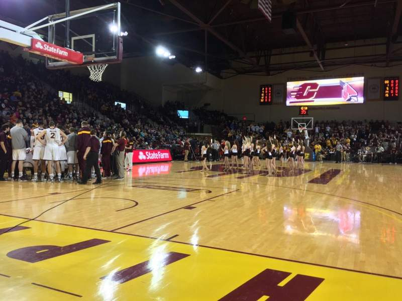 Seating view for McGuirk Arena Section 108 Row 2 Seat 1