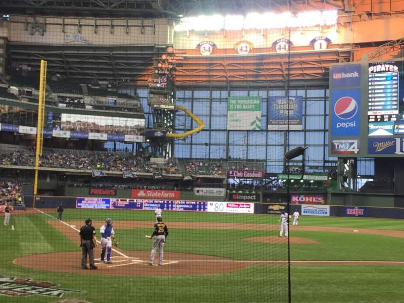 Seating view for Miller Park Section 116 Row 10 Seat 11
