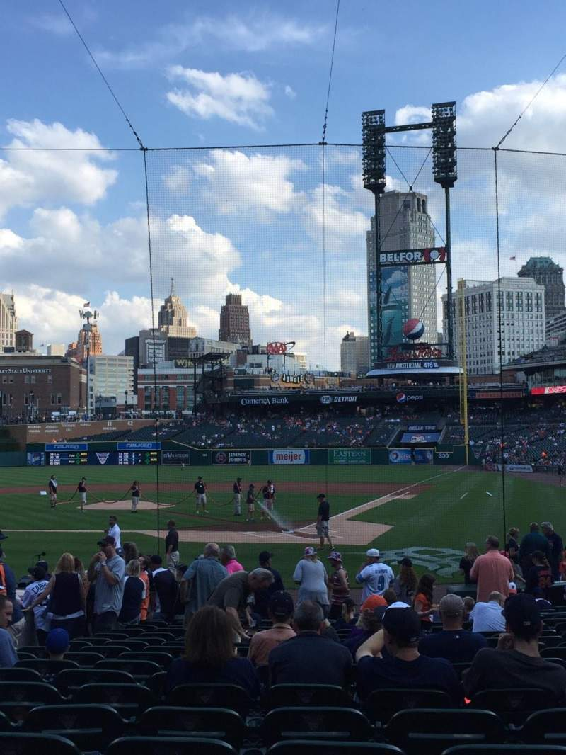 Seating view for Comerica Park Section 130 Row 20 Seat 7