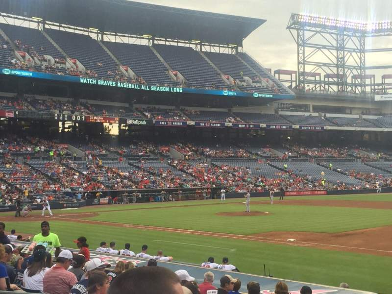 Seating view for Turner Field Section 117R Row 16 Seat 5