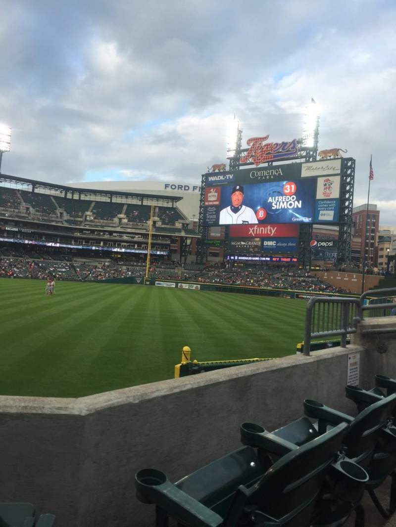 Seating view for Comerica Park Section 111 Row 23 Seat 3