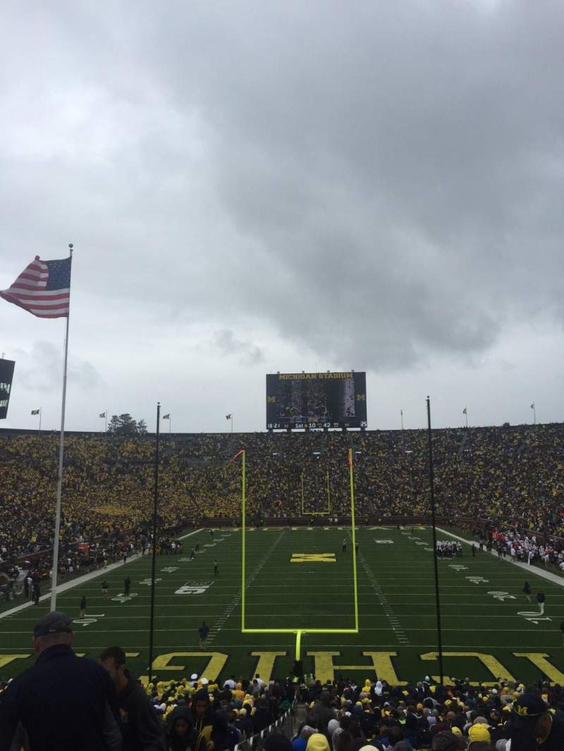 Seating view for Michigan Stadium Section 12 Row 44 Seat 13