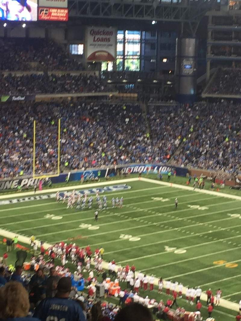 Seating view for Ford Field Section 336 Row 19 Seat 15