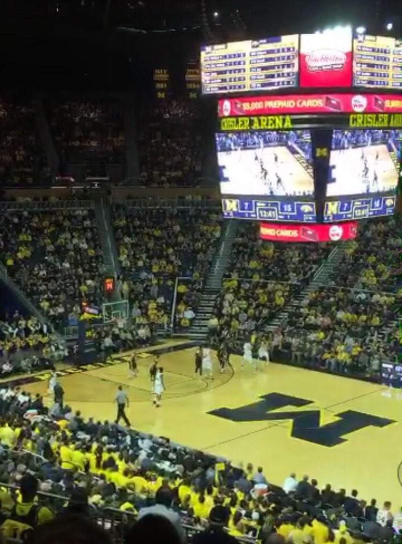 Seating view for Crisler Center Section 220 Row 28 Seat 1