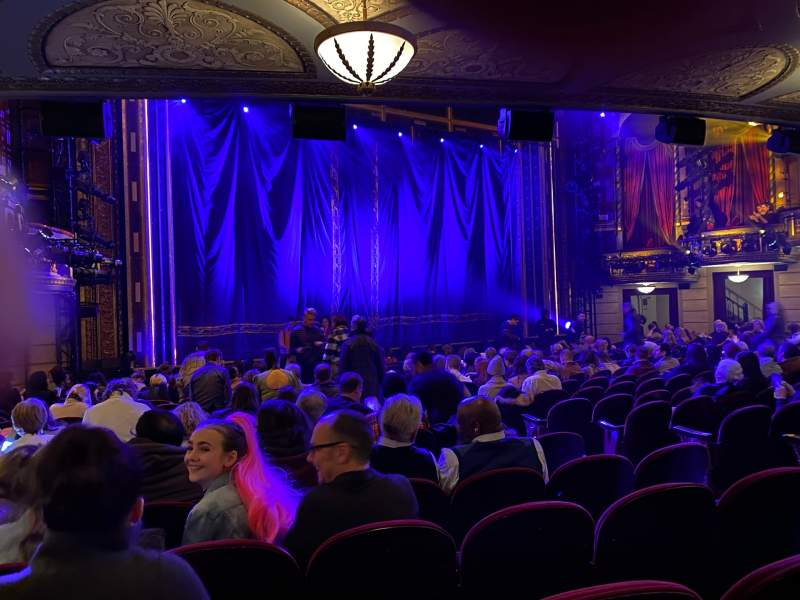 Seating view for Brooks Atkinson Theatre Section Orchestra L Row P Seat 13