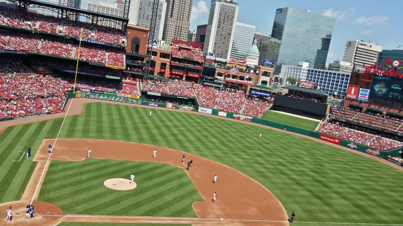 Seating view for Busch Stadium Section 346 Row 1 Seat 11