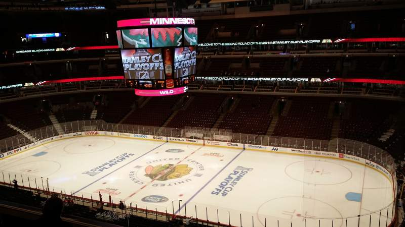 Seating view for United Center Section 314 Row 8