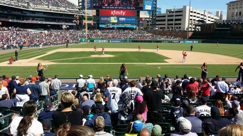 Seating view for Comerica Park Section 122 Row 24