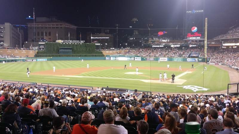 Seating view for Comerica Park Section SRO