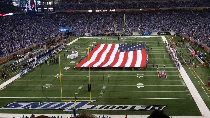 Seating view for Ford Field Section 319 Row 3 Seat 7