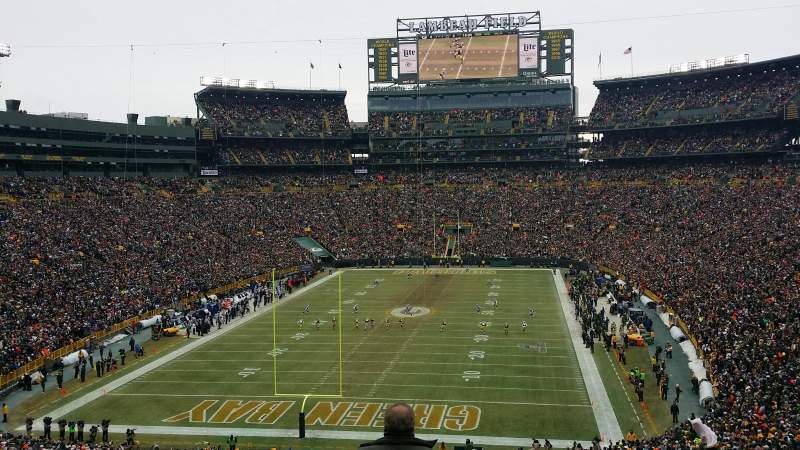 Seating view for Lambeau Field Section 302 Row 3 Seat 4