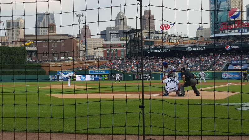 Seating view for Comerica Park Section 129 Row 2 Seat 9