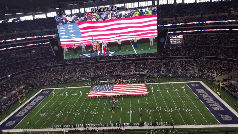 Seating view for AT&T Stadium Section 412 Row 12 Seat 4