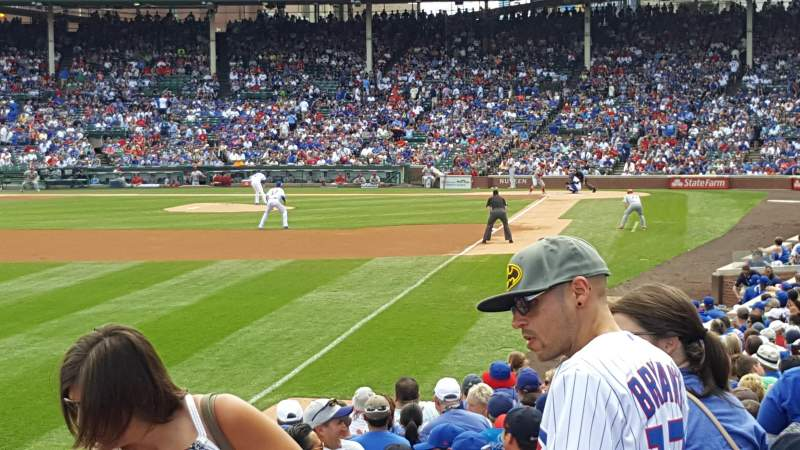 Seating view for Wrigley Field Section 101 Row 10 Seat 8