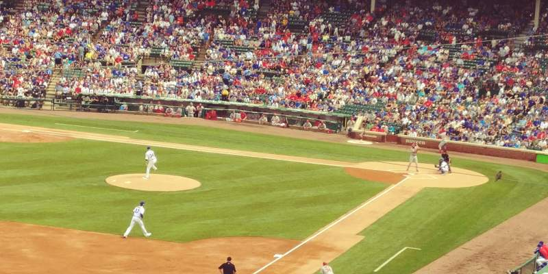 Seating view for Wrigley Field Section 304L Row 3 Seat 4