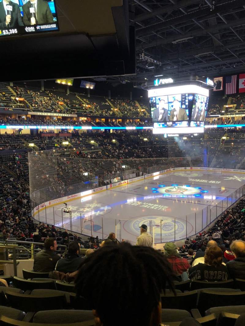 Seating view for Nationwide Arena Section 118 Row MM Seat 17