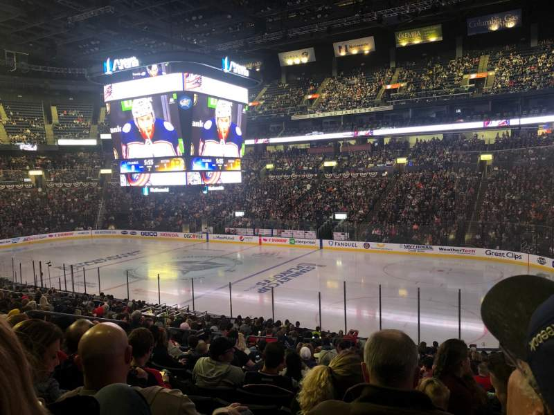 Seating view for Nationwide Arena Section 112 Row Y Seat 17