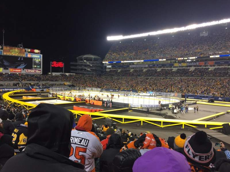 Seating view for Heinz Field Section 115 Row V Seat 1