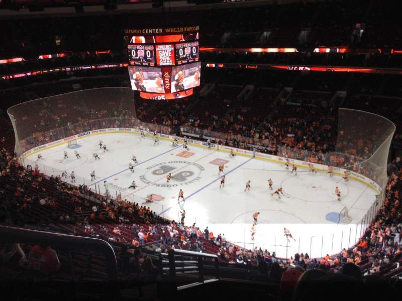Seating view for Wells Fargo Center Section 216A Row 12 Seat 1