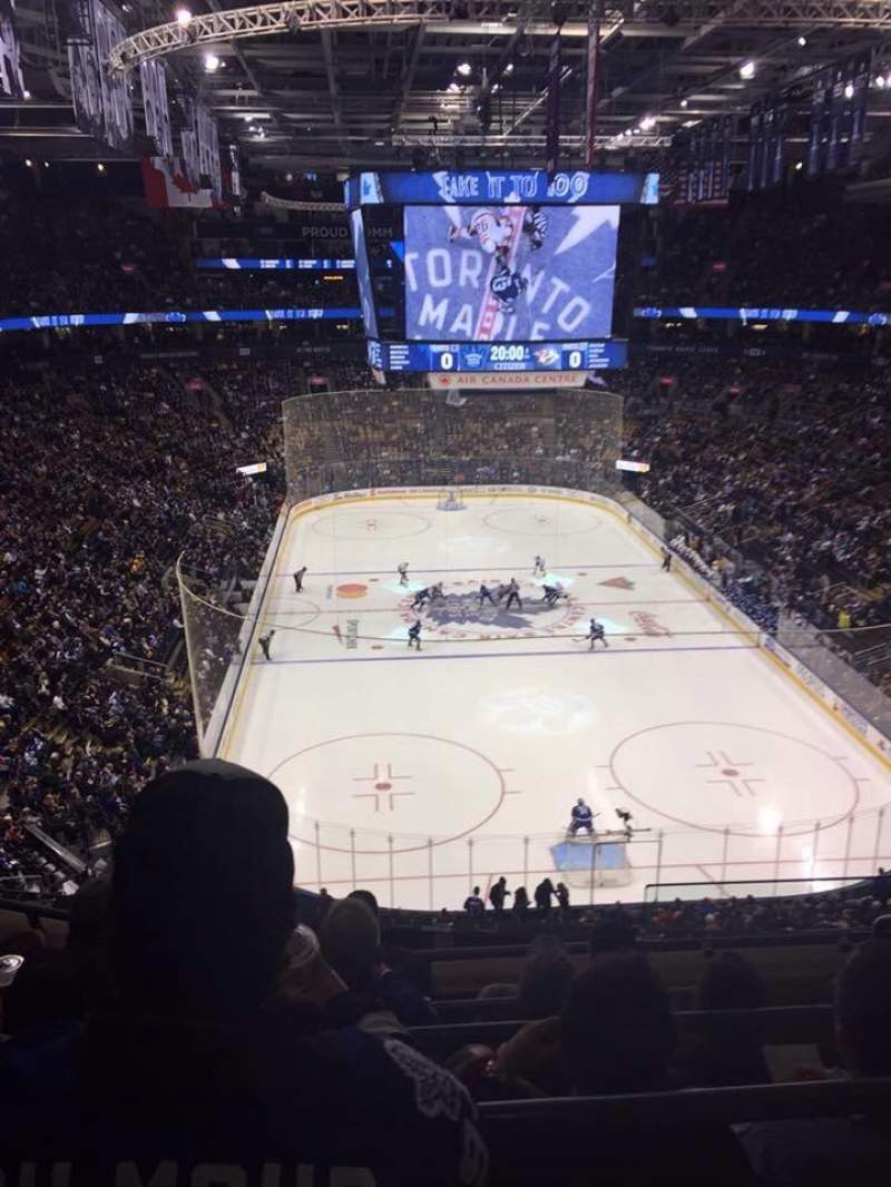 Seating view for Scotiabank Arena Section 304 Row 5 Seat 1