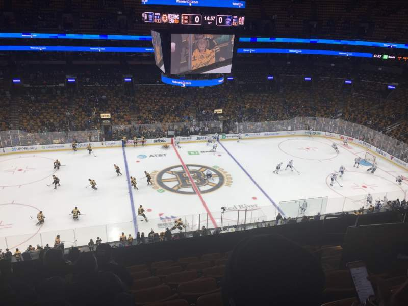 Seating view for TD Garden Section BAL 317 Row 8 Seat 8