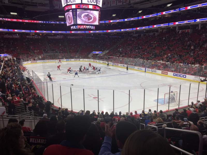 Seating view for PNC Arena Section 129 Row S Seat 1
