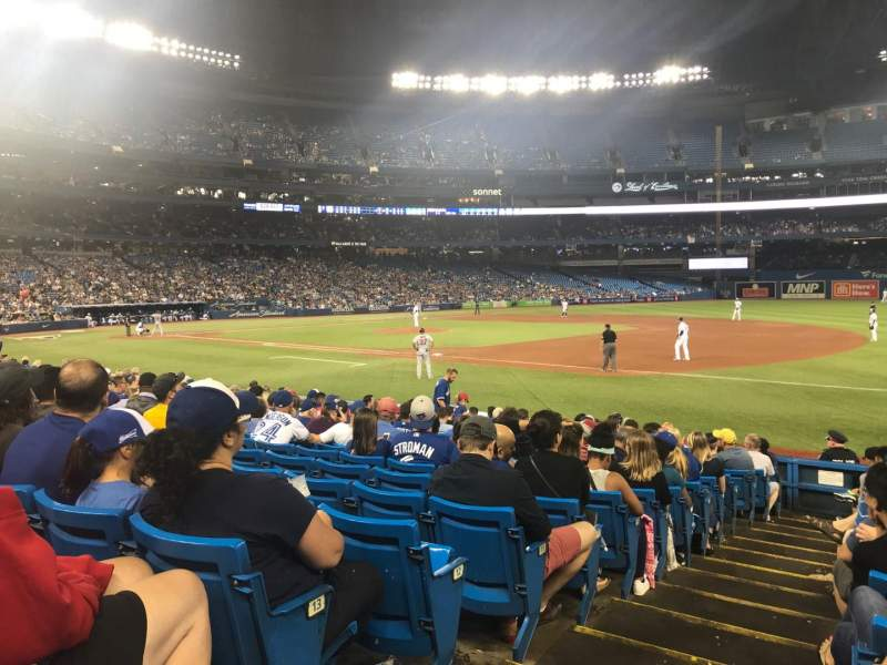 Seating view for Rogers Centre Section 114R Row 15 Seat 1
