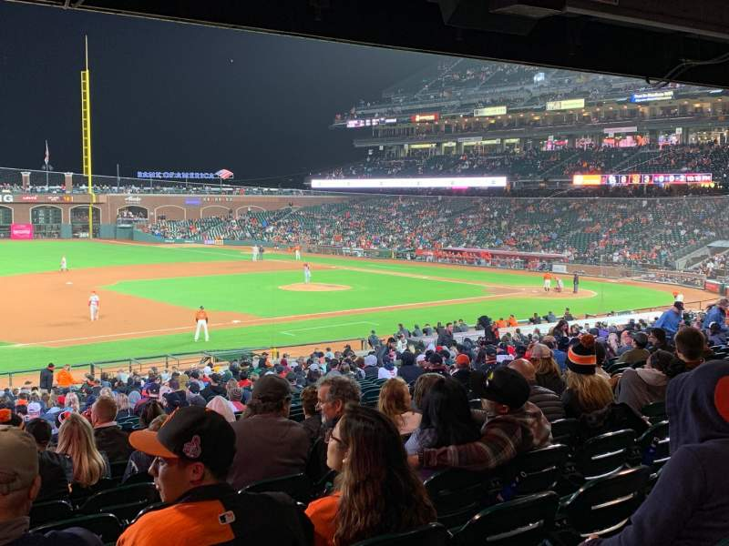 Seating view for Oracle Park Section 126 Row 37 Seat 12