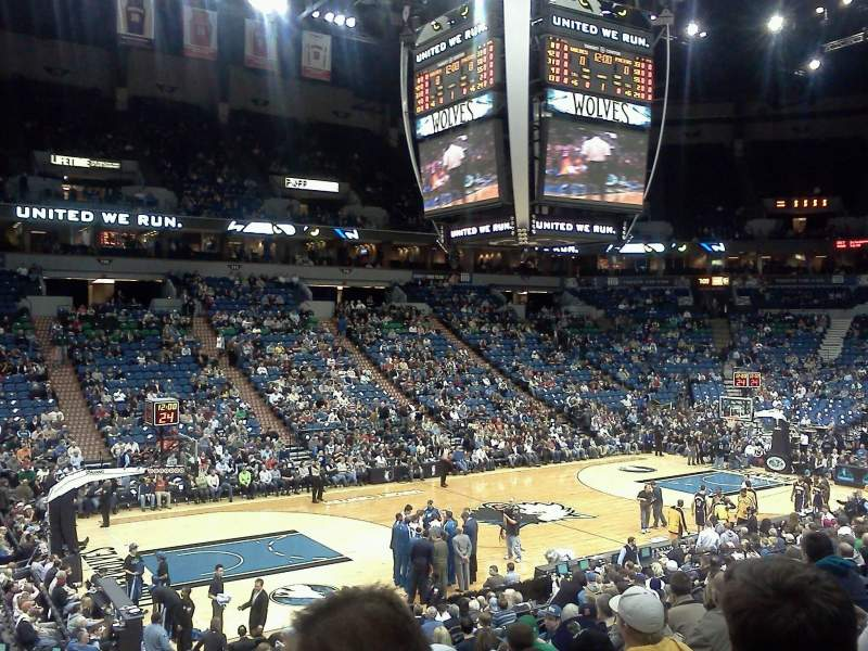 Seating view for Target Center Section 133 Row Q Seat 11