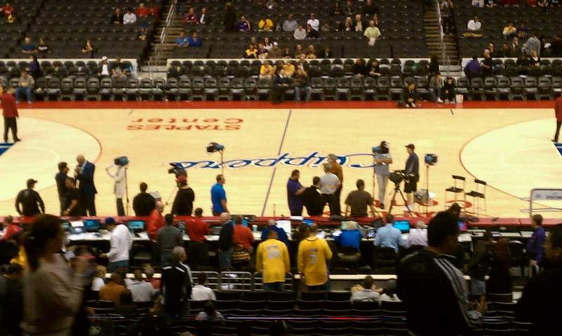 Seating view for Staples Center Section 101 Row 15 Seat 8