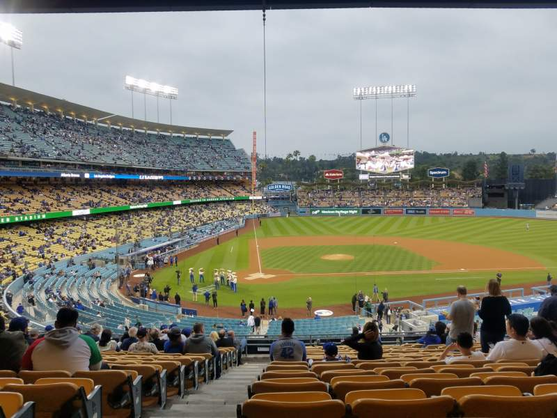 Seating view for Dodger Stadium  Section 120LG Row R Seat 1