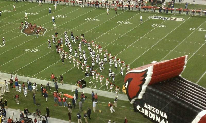 Seating view for University of Phoenix Stadium Section 406 Row 1 Seat 3