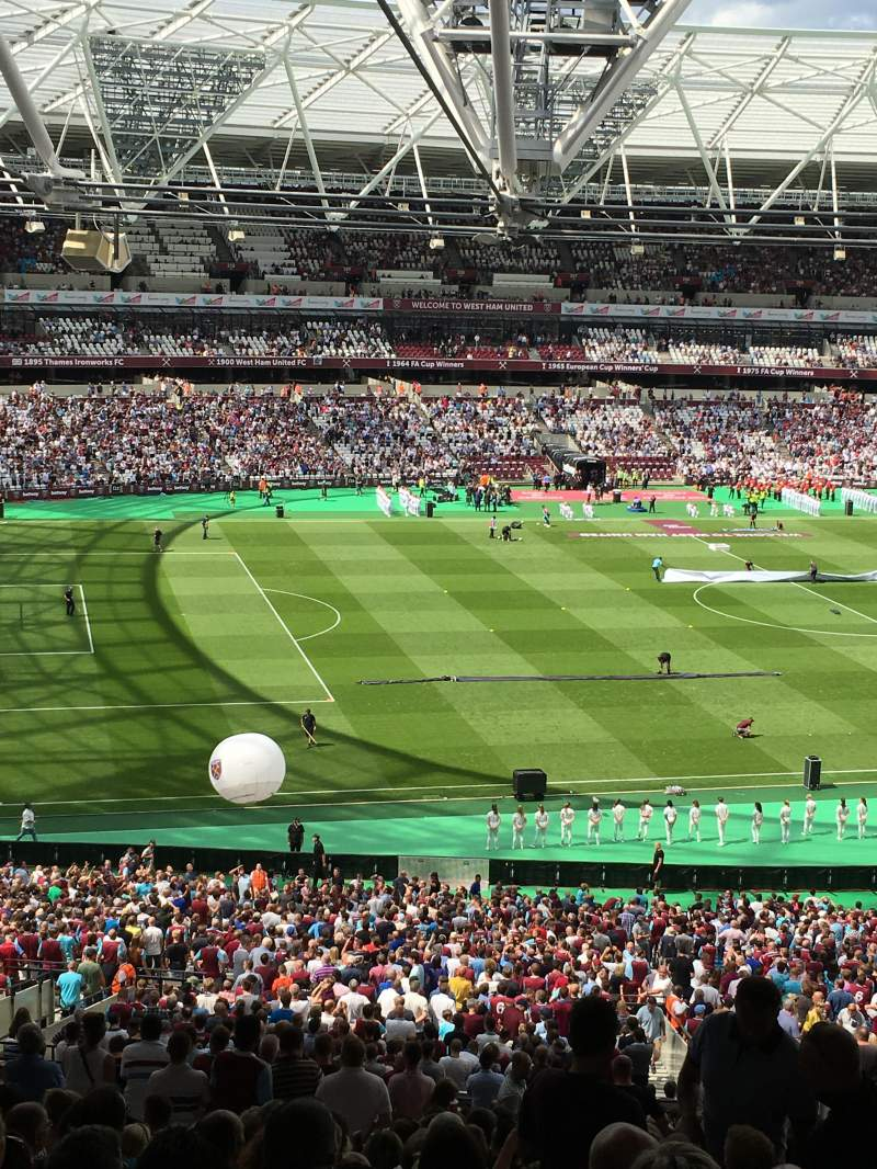Seating view for London Stadium Section 231 Row 42 Seat 593
