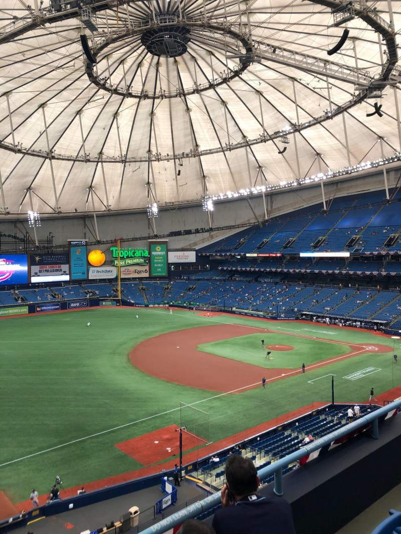 Seating view for Tropicana Field Section 319 Row C Seat 1