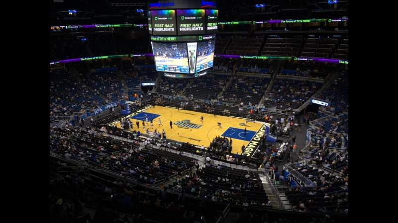 Seating view for Amway Center Section 206 Row 1 Seat 18