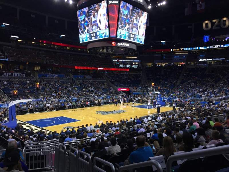 Seating view for Amway Center Section 108 Row 16 Seat 1