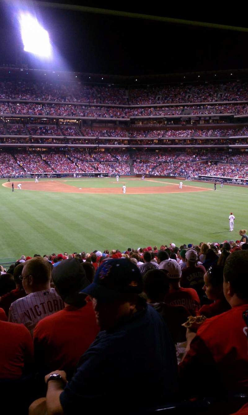 Seating view for Citizens Bank Park Section SRO