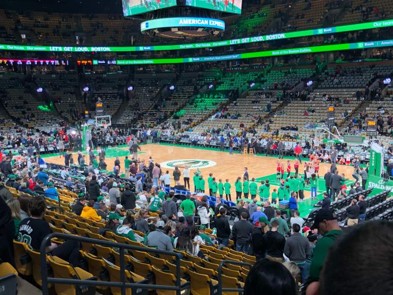 Seating view for TD Garden  Section Loge 20 Row 18 Seat 5, 6