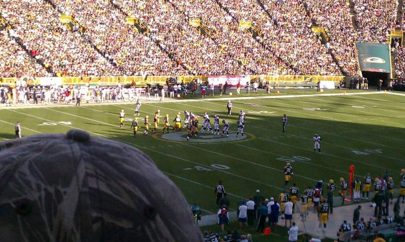 Seating view for Lambeau Field Section 112 Row 45 Seat 6