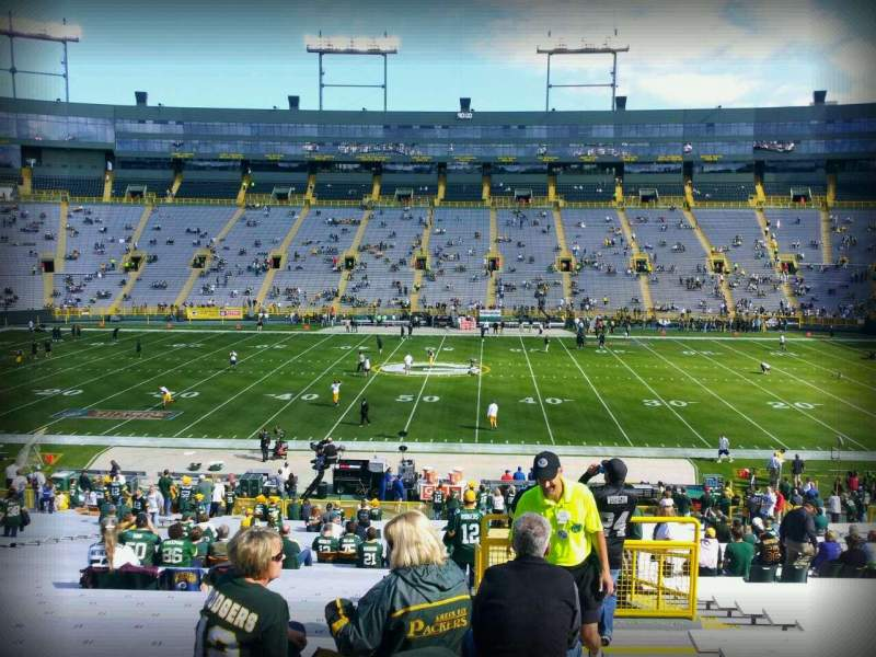 Seating view for Lambeau Field Section 120 Row 41 Seat 24